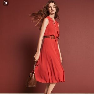 Ann Taylor Tie Neck Midi Dress
